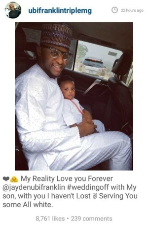 Triplemg Boss, Ubi Franklin, Counting His Loses In His Failed Marriage (Pic)